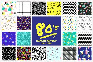 Geometric 80's style patterns
