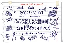 Back to School. Lettering  ,supplies