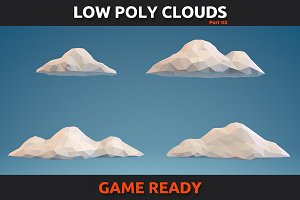 Low Poly Clouds Pack 2
