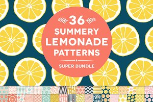 36 Summery Lemonade Patterns Bundle