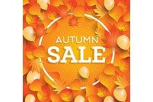 Autumn sale background