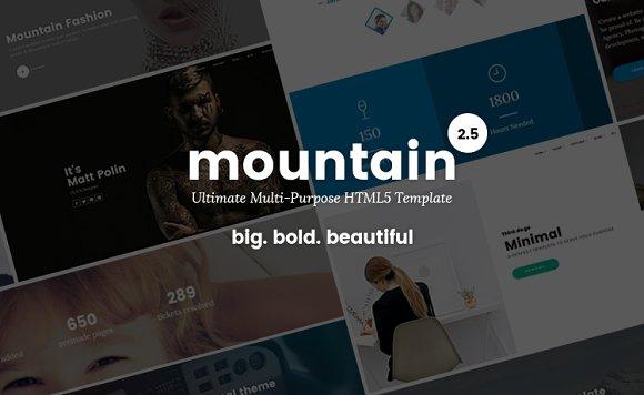 Mountain - Big. Bold. Beautiful - Bootstrap