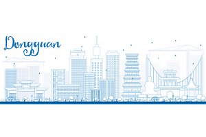Outline Dongguan Skyline
