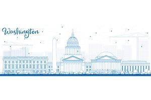 Outline Washington DC Skyline