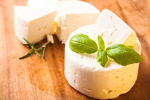 Salted soft cheese