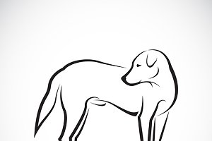 Vector of a dog .