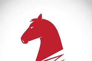 Vector of a horse haed.