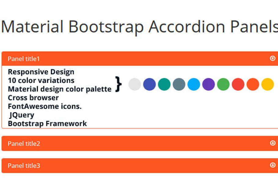 Material Bootstrap Accordion Panels ~ Bootstrap Themes