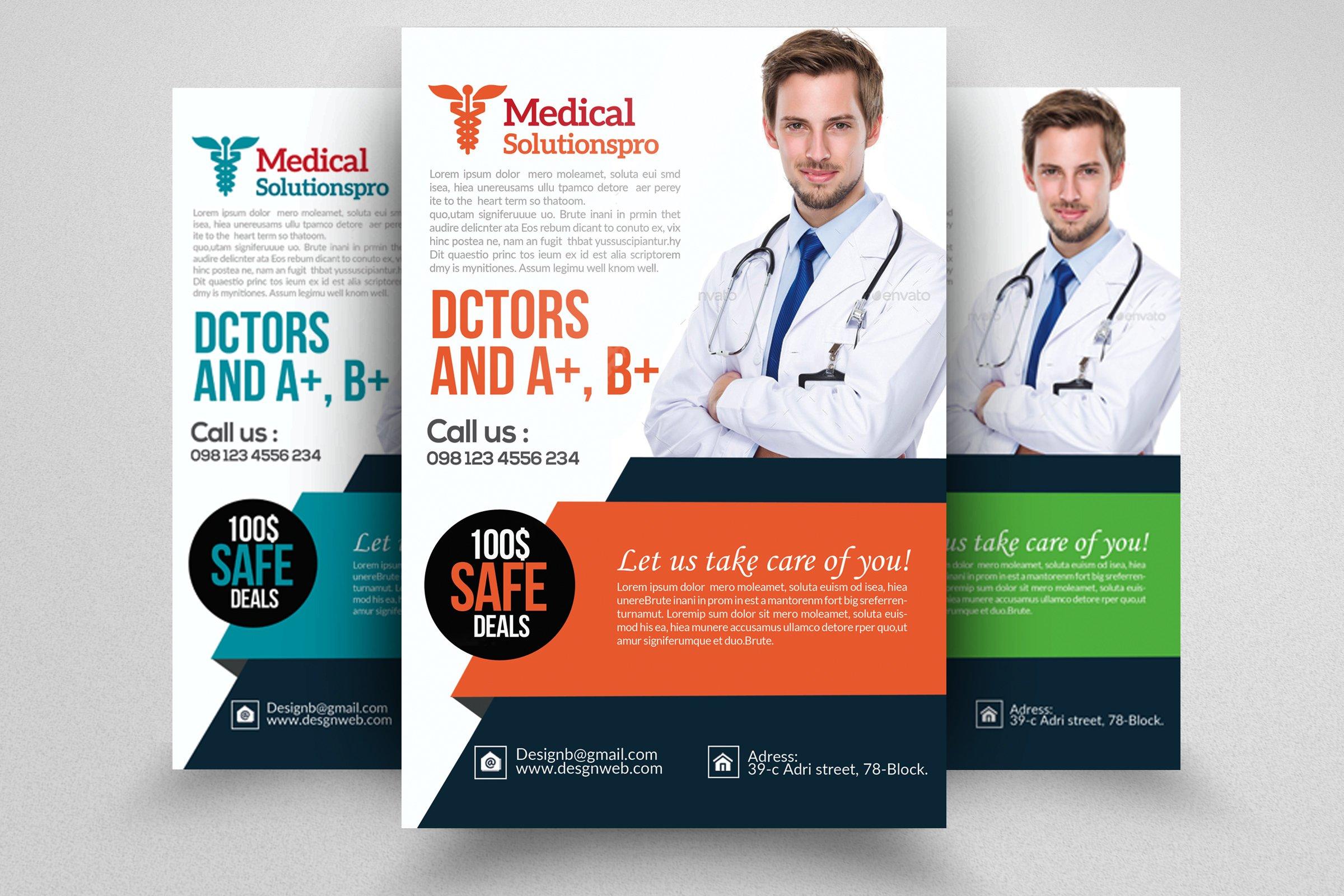 medical doctor flyer template flyer templates creative. Black Bedroom Furniture Sets. Home Design Ideas