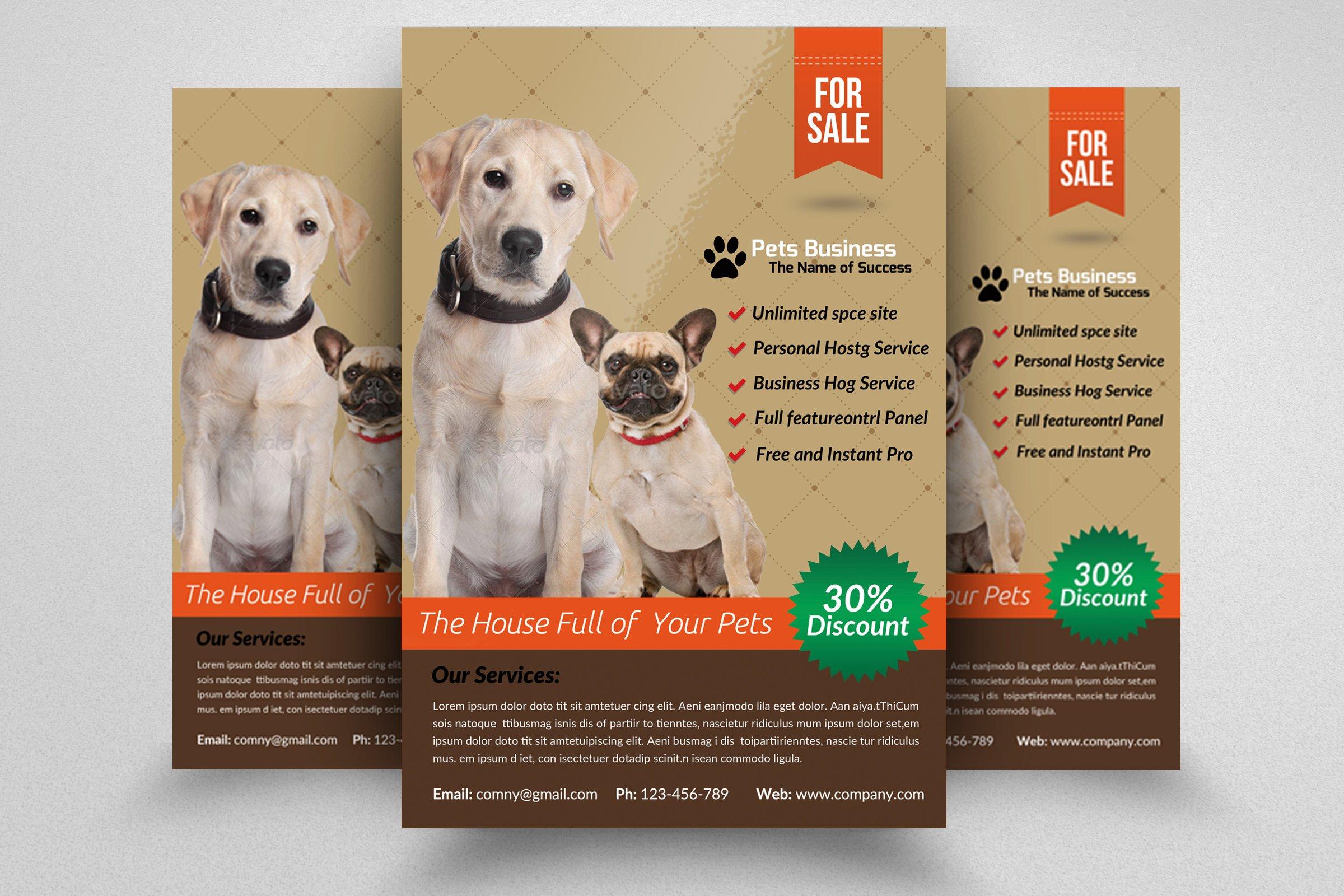 Pet Shop Business Flyer Template Flyer Templates Creative Market - Business open house flyer template