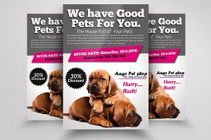 Pets Shop & Store Flyer Template