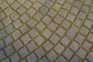 Pathway made of stone bricks