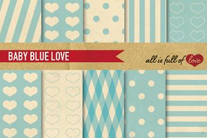 Printable Patterns - Blue paper pack