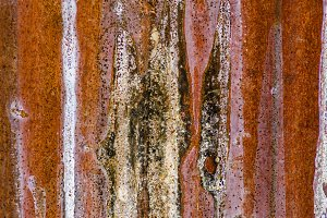 Rusty worn sheet metal