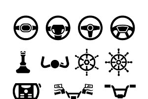 Set icons of steering wheel