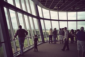 People on observation tower