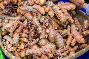 Tumeric roots at the market