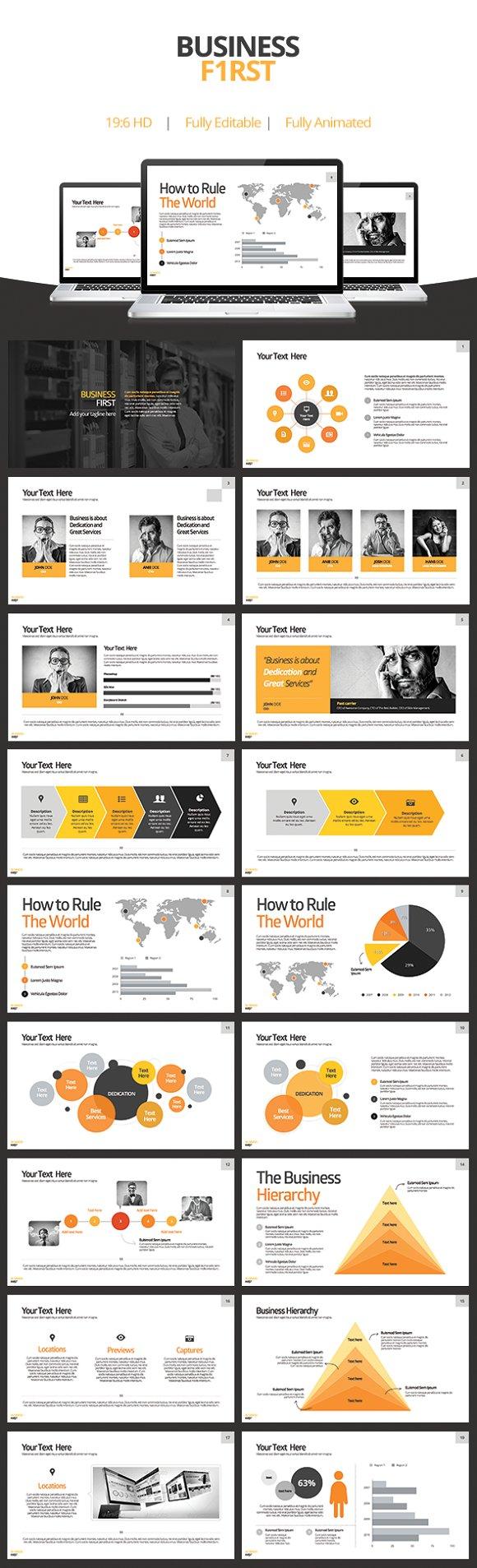 Powerpoint templates and keynote themes that look great in 2016 business first keynote template toneelgroepblik Choice Image