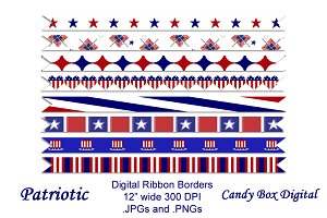 Patriotic Digital Ribbons