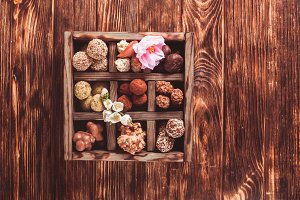 Chocolate candy box