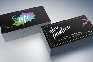 Paint Splatter Business Card 012