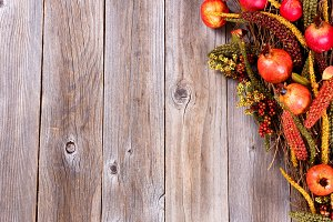 Autumn Decorations on wood