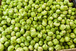 brussel sprouts at the market