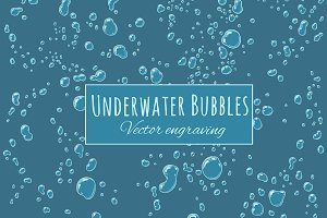 Background Underwater Bubbles
