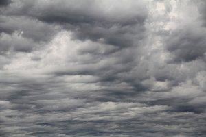 rippled dark storm clouds