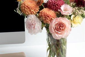 Autumn Floral Deskscape