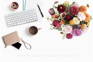 Autumn Floral Styled Desktop