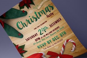 Christmas Party Flyer + Bonus