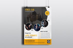 Flyer For Fitness Club-V361