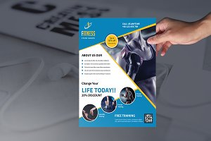 Fitness Flyer - Gym  Flyer -V362