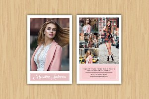 Model Comp Card Template-V363