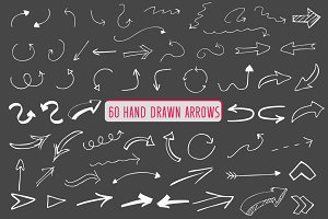 60 Hand drawn arrows-Vector