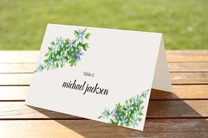 Wedding Place Card Template