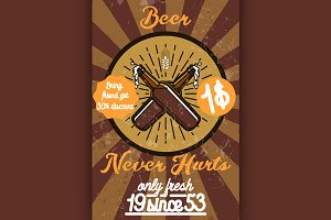 Retro styled beer banner