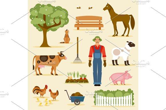 Farm. Vector set - Illustrations