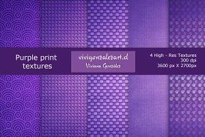 Purple print textures