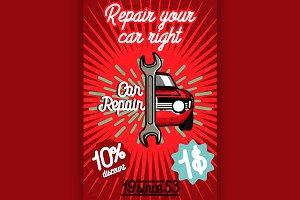 Car repair banner