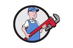 Mechanic Cradling Pipe Wrench