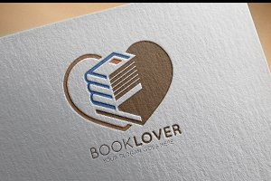 Book Lover Logo Template