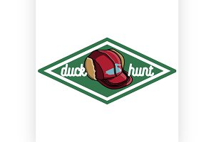 Color vintage hunting emblem