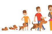 Dog life vector