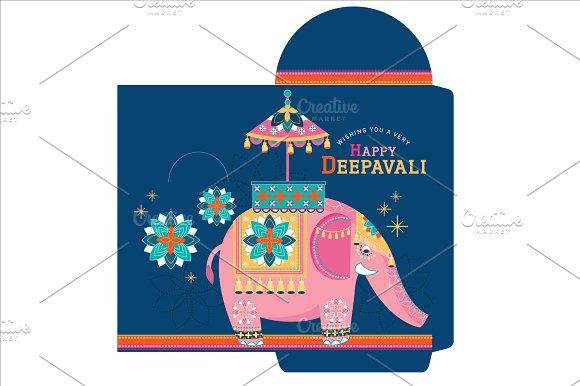 diwali/deepavali money pocket vector