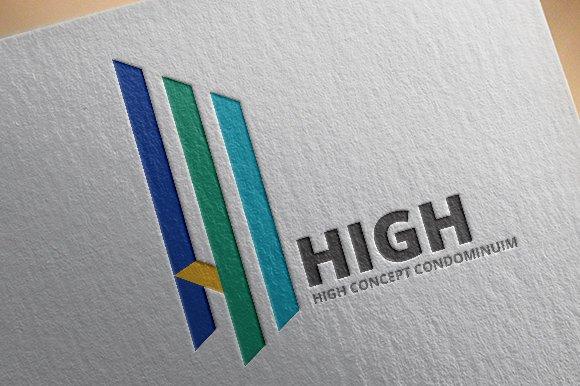 letter h logo template logos