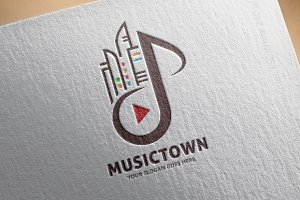 Music City Logo Template