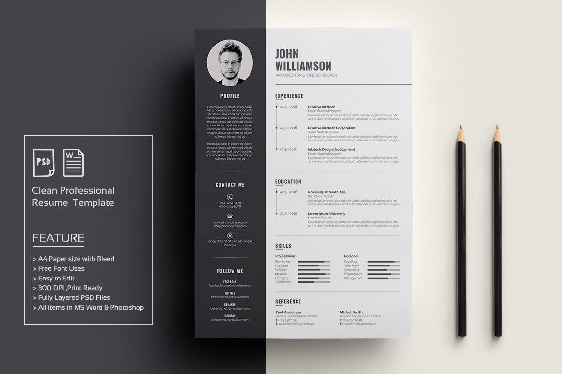 Resume/CV ~ Resume Templates ~ Creative Market