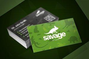 Savage Pet Shop Business Card